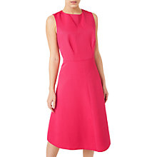 Buy Precis Petite Fit And Flare Dress, Mid Pink Online at johnlewis.com