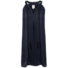 Buy Fat Face Bude Embroidered Dress, Phantom Online at johnlewis.com