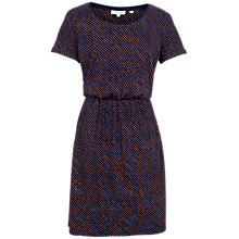 Buy Fat Face Corinne Safari Spot Dress, Navy Online at johnlewis.com