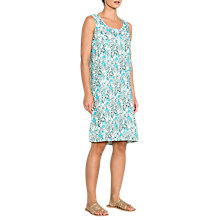 Buy East Linen Pocket Sardinia Dress, Turquoise Online at johnlewis.com