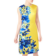 Buy Precis Petite Roma Print Dress, Yellow/Multi Online at johnlewis.com