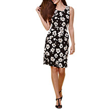 Buy Yumi Flower Print Dress, Black Online at johnlewis.com
