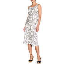 Buy East Linen Etched Floral Dress, Limestone Online at johnlewis.com