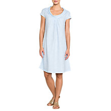 Buy East Linen Cowl Neck Dress, Chambray Online at johnlewis.com