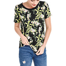 Buy Oasis The Perfect Tropical Botanical Print T-Shirt, Multi Online at johnlewis.com