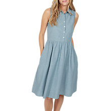 Buy Fat Face Suki Chambray Dress, Chambray Blue Online at johnlewis.com