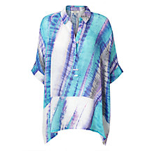 Buy East Linen Abstract Print Top, Capri Online at johnlewis.com