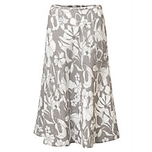 Buy East Linen Etched Floral Skirt, Limestone Online at johnlewis.com
