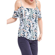 Buy Oasis Tropical Botanical Cami, Blue/Multi Online at johnlewis.com
