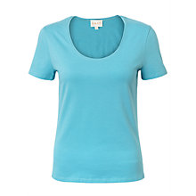 Buy East Short Sleeve Cotton Top, Celadon Online at johnlewis.com