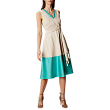 Buy Karen Millen Knot Detail Midi Dress, Teal/Grey Online at johnlewis.com