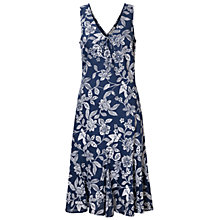 Buy East Mahika Floral Print Sleeveless Dress, Navy Online at johnlewis.com