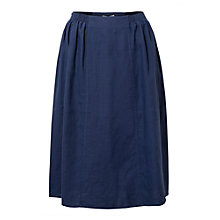 Buy East Linen Elastic Detail Skirt, Soft Ink Online at johnlewis.com