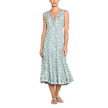 Buy East Kavita Floral Print V Neck Maxi Dress, Viola/Multi Online at johnlewis.com