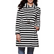 Buy Yumi Stripe Trench Coat, Black / White Online at johnlewis.com
