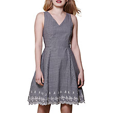 Buy Yumi Check Gingham Belt Dress, Black Online at johnlewis.com