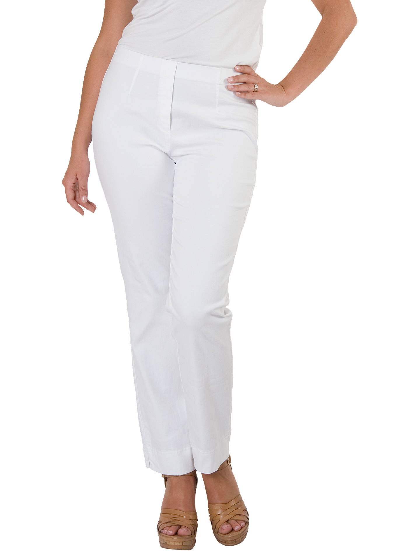 BuyChesca Denim Slim Leg Jeans, White, 14 Online at johnlewis.com