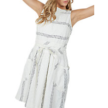 Buy Fat Face Angie Pretty Dress, White Online at johnlewis.com