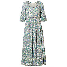 Buy East Kavita Floral Print Scoop Neck Maxi Dress, Viola/Multi Online at johnlewis.com