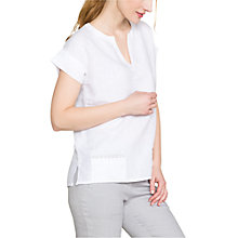 Buy East Linen Embroidered Detail Top Online at johnlewis.com