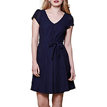 Buy Yumi V-Neck Short Sleeve Dress, Navy Online at johnlewis.com