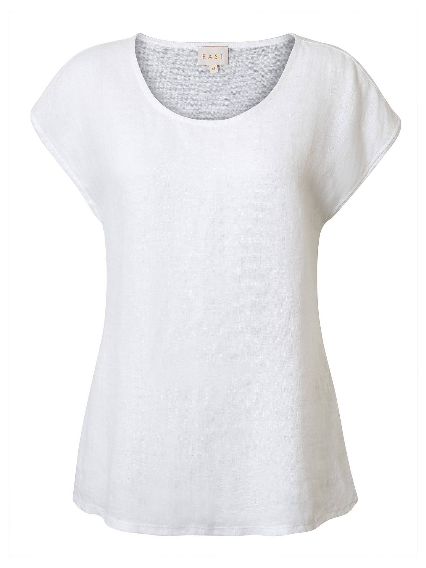 BuyEast Combination Jersey Top, White, XS Online at johnlewis.com