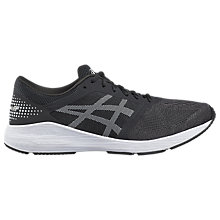 Buy Asics RoadHawk FF Men's Running Shoes, Black/White Online at johnlewis.com