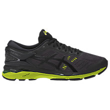 Buy Asics GEL-KAYANO 24 Men's Structured Running Shoes, Black/Green Online at johnlewis.com