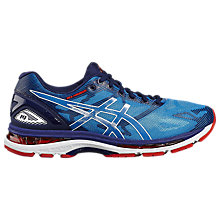 Buy Asics GEL-NIMBUS 19 Men's Running Shoes, Blue/White Online at johnlewis.com