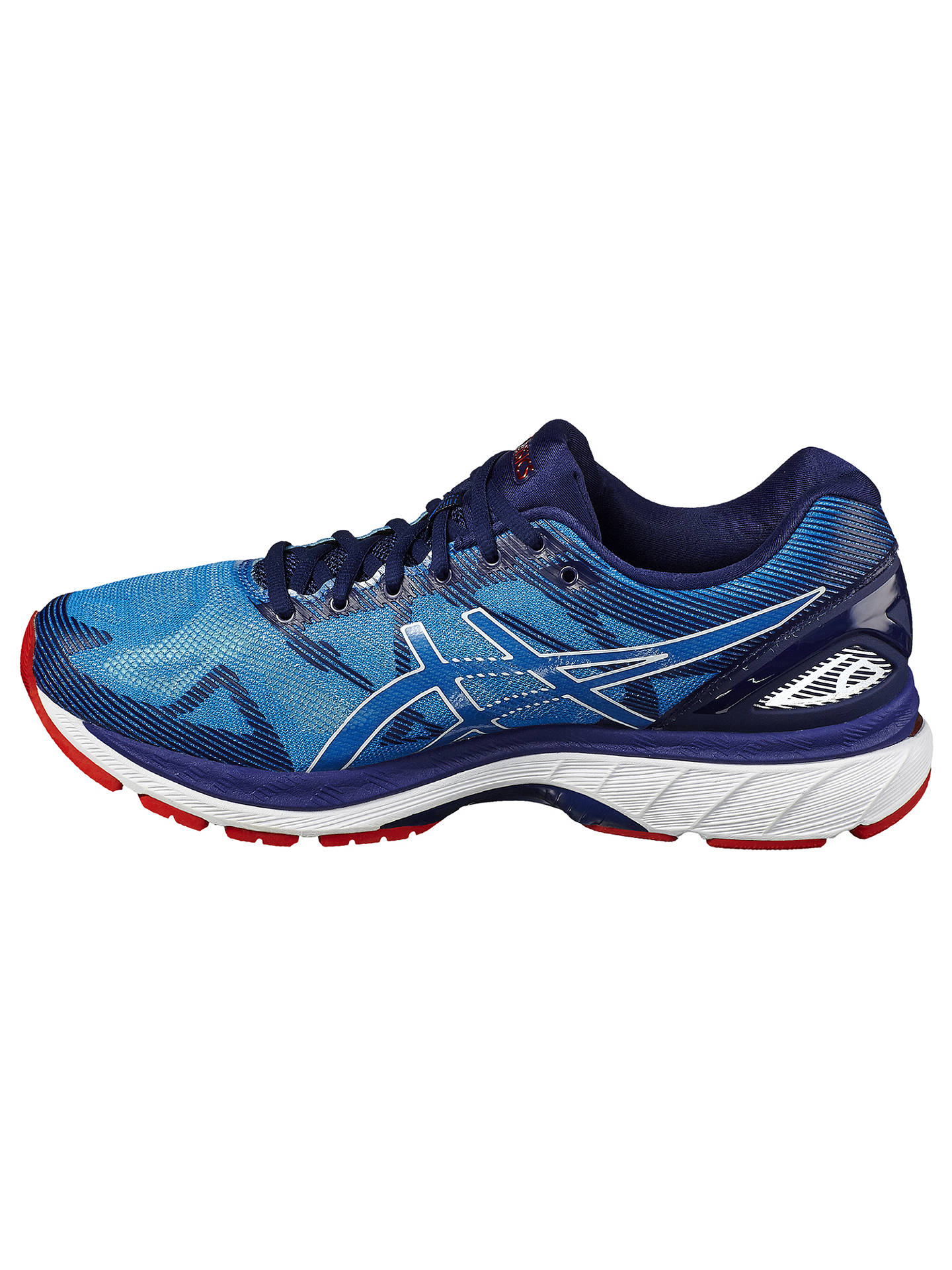 buy popular 832d6 b7fd4 Asics GEL-NIMBUS 19 Men's Running Shoes, Blue/White at John ...