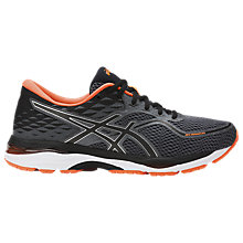 Buy Asics GEL-CUMULUS 19 Men's Running Shoes, Black/Orange Online at johnlewis.com