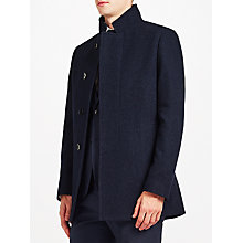 Buy Kin by John Lewis Modern Car Coat, Blue Marl Online at johnlewis.com