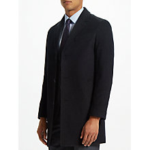Buy John Lewis Wool Cashmere Epsom Coat, Charcoal Online at johnlewis.com