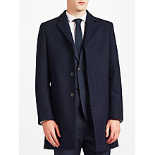 Buy Kin by John Lewis Basket Weave Epsom Coat, Navy Online at johnlewis.com
