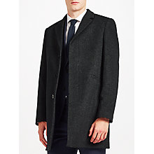 Buy Kin by John Lewis Basket Weave Epsom Coat, Charcoal Online at johnlewis.com
