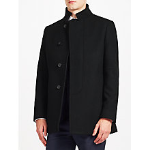 Buy Kin by John Lewis Cavalry Twill Modern Car Coat, Black Online at johnlewis.com