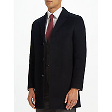 Buy John Lewis Wool Cashmere Epsom Overcoat, Black Online at johnlewis.com