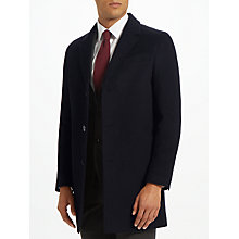 Buy John Lewis Wool Cashmere Epsom Coat, Navy Online at johnlewis.com