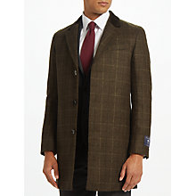Buy John Lewis Bottle Check Covert Coat, Green Online at johnlewis.com