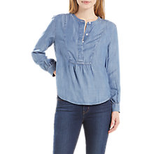 Buy Levi's Marina Chambray Blouse, Medium Light Wash Online at johnlewis.com