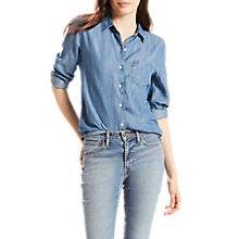 Buy Levi's Sidney One Pocket Boyfriend Shirt, Medium Light Wash Online at johnlewis.com