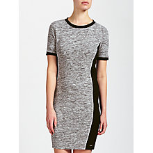 Buy Calvin Klein Dania Slub Jersey Dress, Grey/Black Online at johnlewis.com