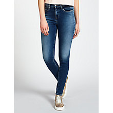 Buy Calvin Klein High Rise Skinny Jeans, Waterfall Online at johnlewis.com