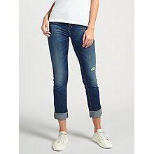 Buy Calvin Klein Mid Rise Straight Jeans, Shipyard Blue Online at johnlewis.com