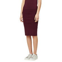 Buy Selected Femme Mirja Knitted Skirt, Mauve Wine Online at johnlewis.com