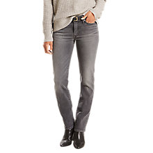Buy Levi's 714 Mid Rise Straight Jeans, Party's Over Online at johnlewis.com