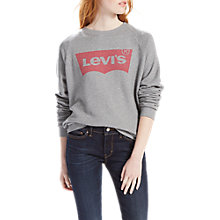 Buy Levi's Relaxed Batwing Graphic Sweatshirt, Smokestack Online at johnlewis.com