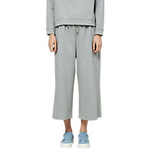 Buy Selected Femme Sia Cropped Sweat Pants, Light Grey Online at johnlewis.com
