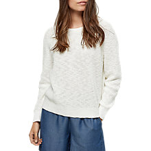 Buy Selected Femme Mace Jumper, Snow White Online at johnlewis.com