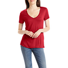 Buy Levi's The Perfect V-Neck Jersey T-Shirt, Red Dahlia Online at johnlewis.com